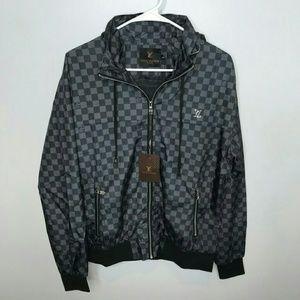 Louis Vuitton L Black & Gray Windbreaker Jacket